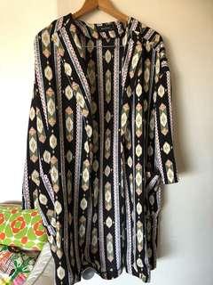 Kimono light jacket print