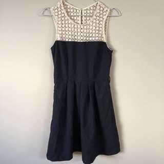 Dotti Crochet top pleated dress