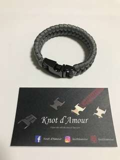 (Perfect Couple Gift) Couple paracord bracelet (Minimalist Series) by Knot d'Amour