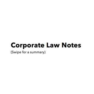 Corporate Law Notes