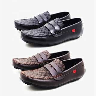 Sepatu Casual Pria Slip On & Loafers Leather Slop Formal Casual Loafers