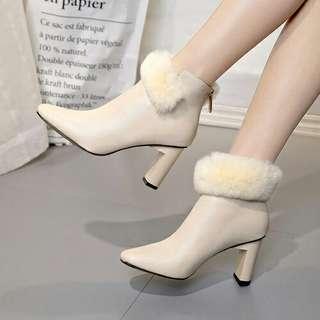 SHB965-Sepatu Boots Pesta Cantik 8CM