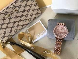 Mk Watch Wallet Set