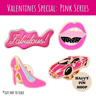 [IN STOCK] V-Day Pink Series Enamel Pins