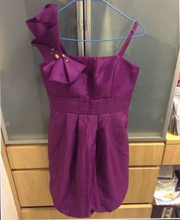 Authentic BCBG party dress in plum