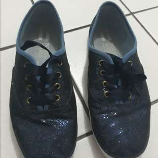 North star, navy, glitter. size 38