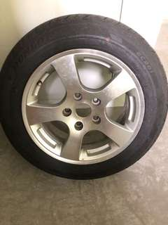 Dunlop 15inch spare tyre