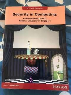 NUS CS2107 Textbook: Security in Computing