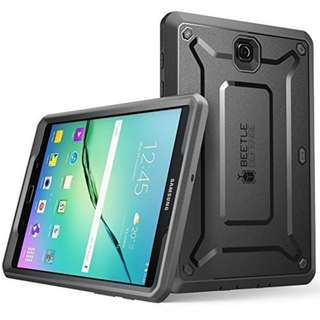 Galaxy Tab S2 8.0 Case, SUPCASE [Heavy Duty] Case for Samsung Galaxy Tab S2 8.0 Tablet [Unicorn Beetle PRO Series] Rugged Hybrid Protective Cover w/ Builtin Screen Protector Bumper (Black/Black)