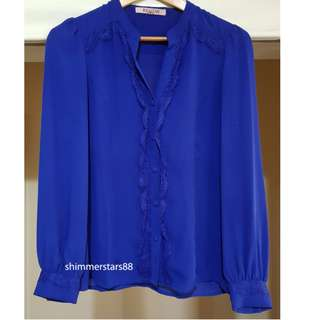 Review Lace Blouse Shirt, size 8, RRP$169