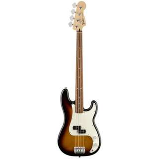 Fender Standard Precision Bass Guitar, Pau Ferro FB, Brown Sunburst