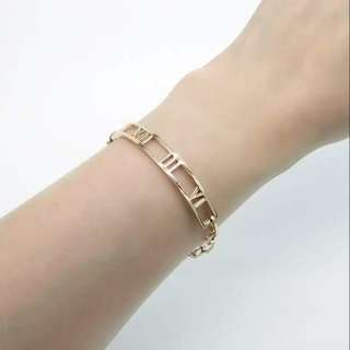 Stainless steel bracelet / original color or rose gold plated color / 不銹鋼手厄,原色或鍍玫瑰金色