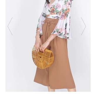 BNWT Fayth Kai High Waisted Culottes In Copper Size S