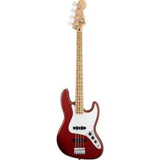 Fender Standard Jazz Bass Guitar, Maple Neck, Candy Apple Red w/o Bag