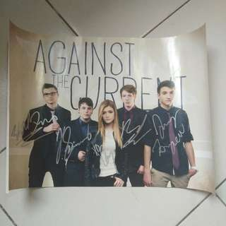 Against The Current Signed Poster All Member