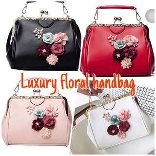 Luxury floral handbag