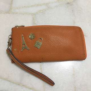 Cute Charms Long Wallet in Orange