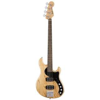 Fender Deluxe Active Dimension Bass Guitar, Maple FB, Natural