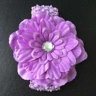 Light purple baby headband