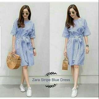 Dress Stripe Biru