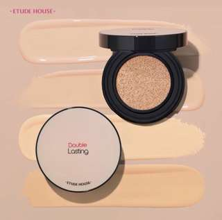 🌸Etude House Double Lasting Cushion Cushion / Refill SPF34 PA++ ($16.10)