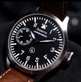 🚚 Azimuth Jadgbomber Pilot Watch