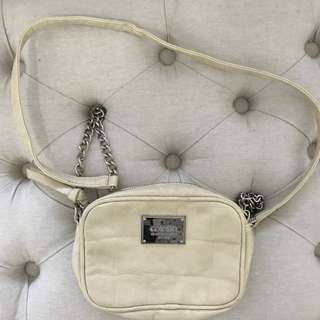 CREAM MINI CLUTCH EVENING BAG