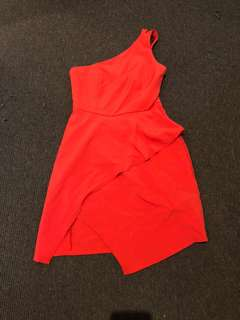 Size S orange one shoulder dress