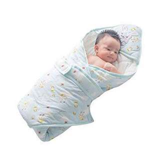 Swaddle baby blanket with cap