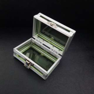 Tinted Green Jewelry Box. Brand new, never used
