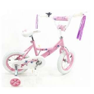 "12""  Kids Bike Elegant BMX Bike Elegance Bicycle Pink White Outdoor Activity NEW"