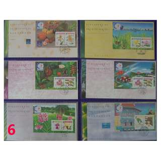 Ref 06 Singapore Orchid Series  M.S. - Taipei 93 - 2  (Value of Stamps $24)