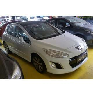 Peugeot 308 1.6A Turbo Allure Glass Roof @ $1650 only