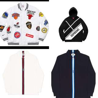 Supreme Hoodie & Palace vertical weave polos