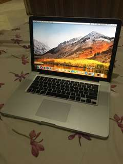"MACBOOK PRO 15"" SSD 256 GB"