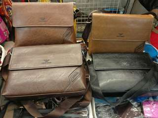 Leather bag Giorgio Armani unisex