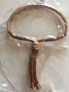 AUTHENTIC Agnes b. Rose gold adjustable braclet