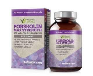 [IN-STOCK] Vitamin Bounty - Forskolin 500mg - 60ct