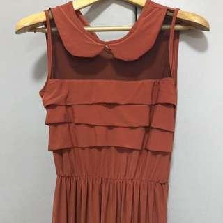 Preloved Copper long dress