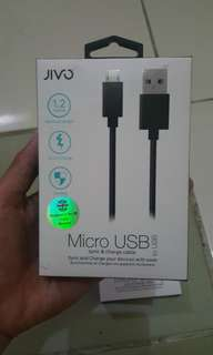 Jivo Usb cable fast charge 1.2M black and white