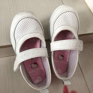 Hello Kitty White School Shoes