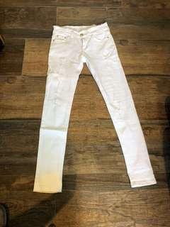 全新全白牛仔褲