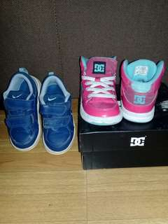 DC and Nike shoes (pre-owned/used) in good condition
