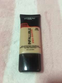 L'oreal Infallible Foundation Shade 105
