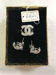 Chanel Diamond Set Earrings and Ring