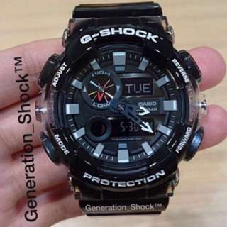 NEW ARRIVAL : 1-YEAR OFFICIAL WARRANTY: ORIGINALLY G SHOCK Resistant in BLACK CRYSTAL CLEAR JELLYFISH SURFING WATCH come in Exclusive Watch With Tide , Moon & Thermometer ABSOLUTELY TOUGHNESS Unisex & BEST GIFT For Most Rough Users : GAX-100MSB / GAX-100