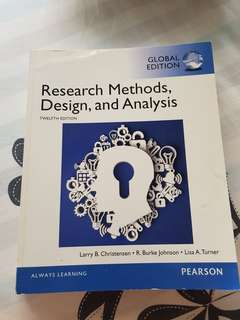 Research Methods, Design and Analysis