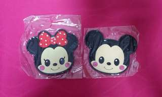 Mickey & Minnie Silicon Cup Coaster Set