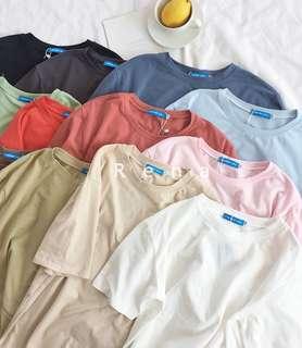 🚚 素色純棉百搭寬鬆T恤(白色)