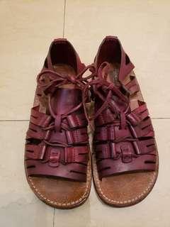 Dolce Gabbana 男裝 型仔 皮革 涼鞋 size~7.5 原價6900 現清理價999